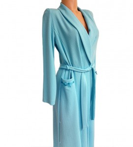 Robe de chambre manches longues TURQUOISE