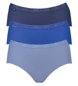 Lot de 3 slips Basic+ Midi BLEU