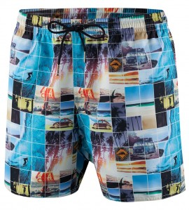 Short de plage pour homme Sunset C41 MULTICOLOR