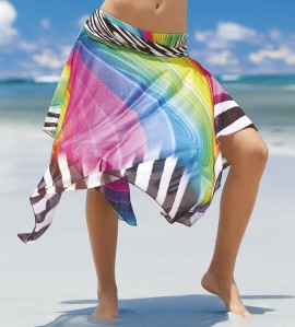 Jupe robe de plage Rainbow MULTICOLOR
