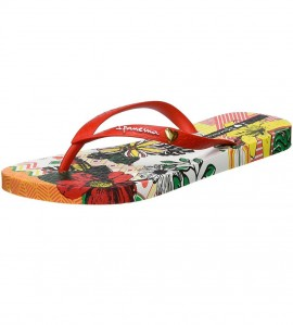 Paire de tongs I love Tribal ROUGE
