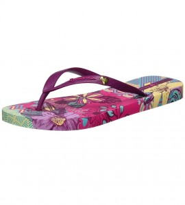 Paire de tongs I love Tribal FUSHIA