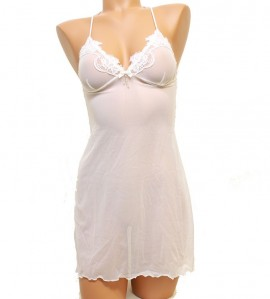 Nuisette Sexy Chic pour femme BLANC
