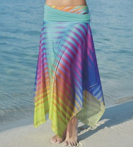 Robe/Jupe de plage Rainbow Dots MULTICOLOR