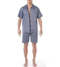 Pyjama short boutonné Claude BLEU 00BI