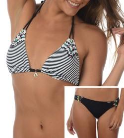 Bikini triangle Nacotee NOIR BLANC