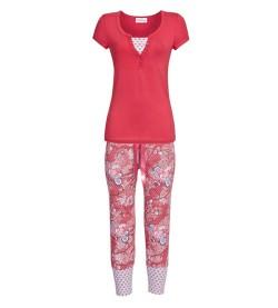 Ensemble pyjama d'été pour femme ROUGE