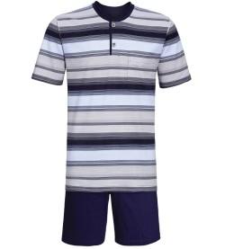 Pyjama short col boutonné BLEU