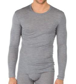 T-Shirt Homme Laine et Soie GRIS