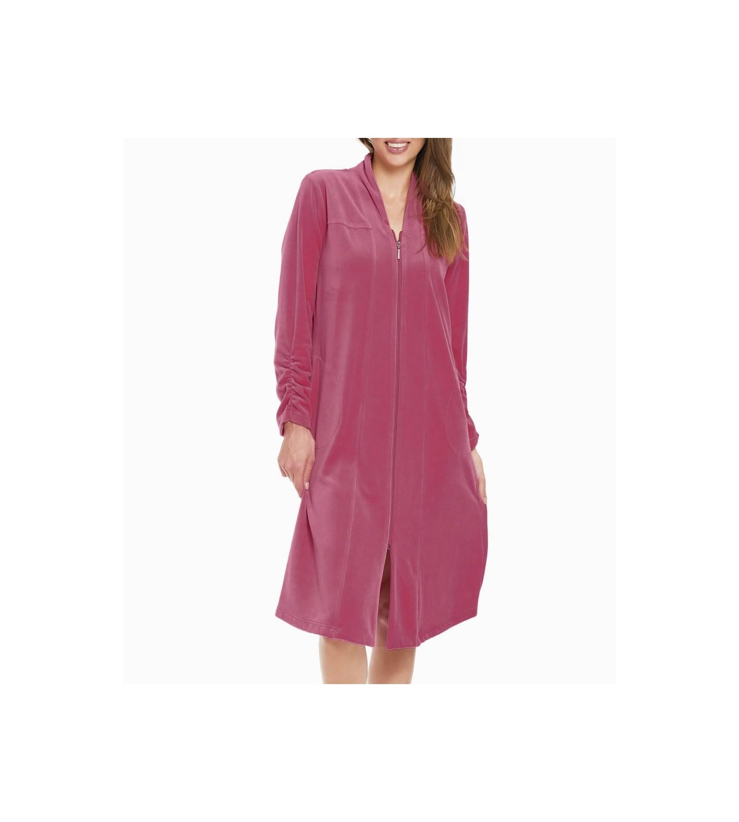 Robe De Chambre Longue Zippée Violet Lingerie Sipp