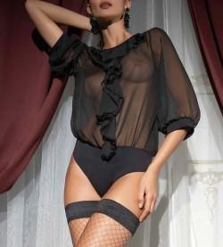 Body fantaisie Rosalia NOIR