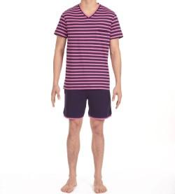 Pyjama short pour homme Charismatic MARINE/ROSE