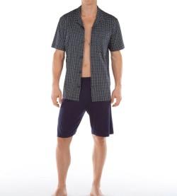 Pyjama court pour homme Cape Town BLEU