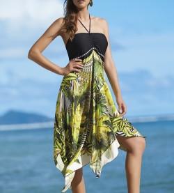 Robe/Jupe de plage Banana Forest NOIR/JAUNE