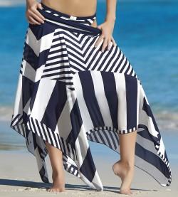Robe/Jupe de plage New Line MARINE/BLC