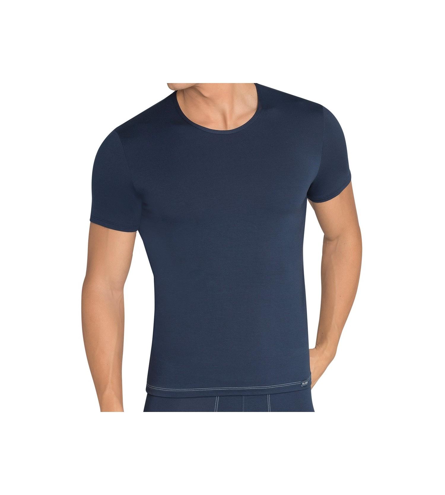 T-shirt sloggi men basic soft 80MARINE