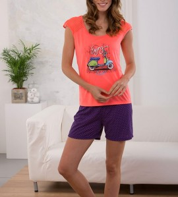 Pyjashort femme Vespa CORAIL
