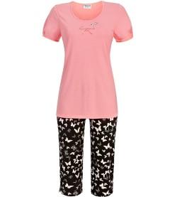 Pyjama femme bas corsaire papillons MELON