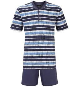 Pyjama court col tunisien BLEU