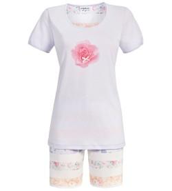 Pyjashort à rayures pour femme PARME