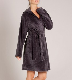 Peignoir en coton 100cm pour femme GRIS