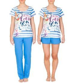 Pyjama 3p pantalon short TURQUOISE