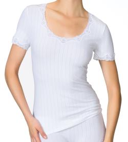 Chemise coton Calida pour femme 01BLANC