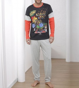 Pyjama imprimé cartoon pour homme MULTICOLOR