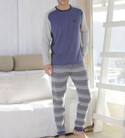 Pyjama rayé pour homme JEAN/GRIS