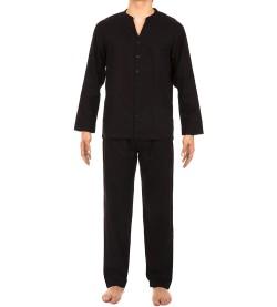 Pyjama boutonné Mosaic pour homme NOIR