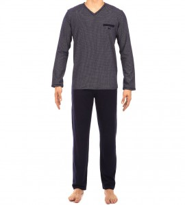 Pyjama long Neville pour homme MARINE OORA