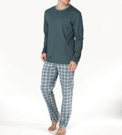 Pyjama long pour homme VERT