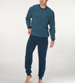Pyjama homme en éponge Matthew BLEU