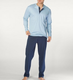 Pyjama homme à col tunisien Matt CIEL