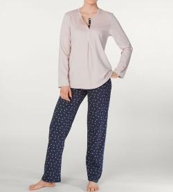 Pyjama boutonné pour femme Deborah MARINE ROSE 429