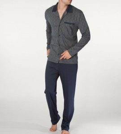 Pyjama boutonné pour homme George TAUPE