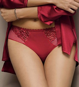 Slip haut Fashion Guipure ROUGE