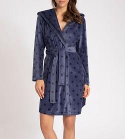 Robe de chambre capuche Blue Hour BLEU JEAN