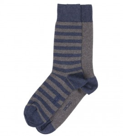 Lot de 2 paires de chaussettes GRIS/JEA