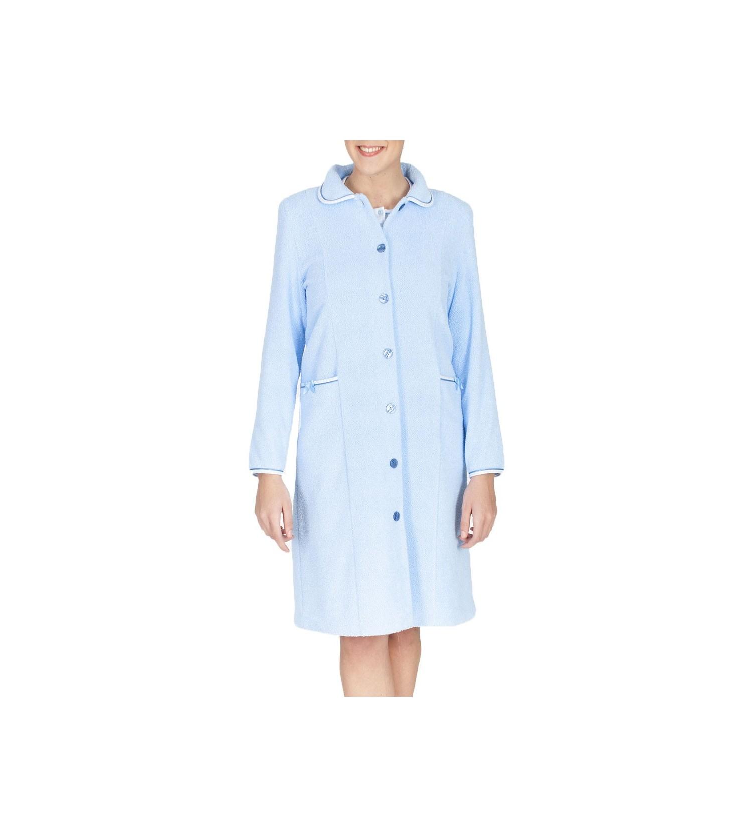 Robe de chambre boutonn e ciel lingerie sipp - Robes de chambre de marque ...