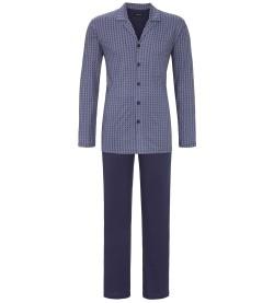 Pyjama entièrement boutonné homme BLEU