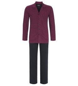 Pyjama entièrement boutonné homme BORDEAUX