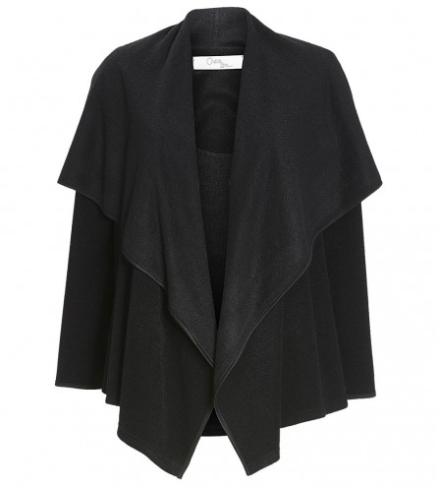 Veste d 39 int rieur forme cape noir lingerie sipp for Veste noir interieur ecossais