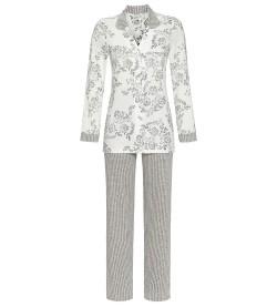 Pyjama femme entièrement boutonné IVOIRE