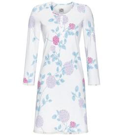 Chemise de nuit motif floral femme BLANC/BLEU