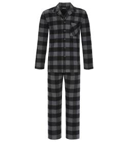 Pyjama en flanelle pour homme NOIR/GRIS