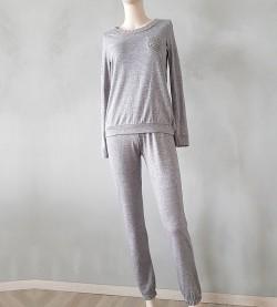 Pyjama manches longues pour femme GRIS