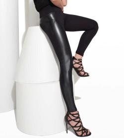 Legging simili cuir Welles NOIR