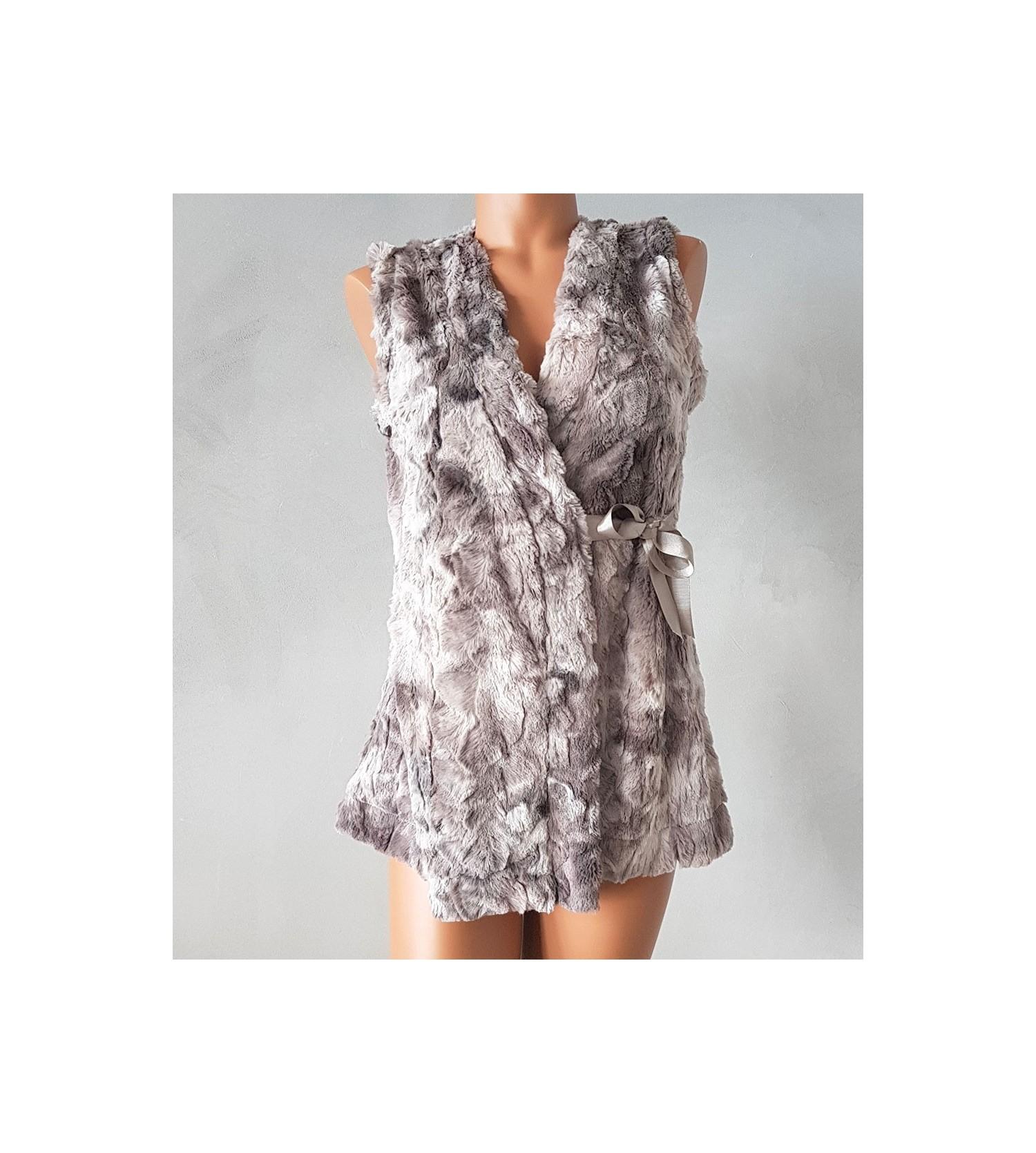 veste sans manches pour femme gris lingerie sipp. Black Bedroom Furniture Sets. Home Design Ideas