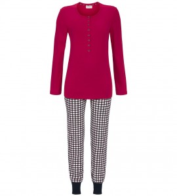 Pyjama long pour femme ROUGE